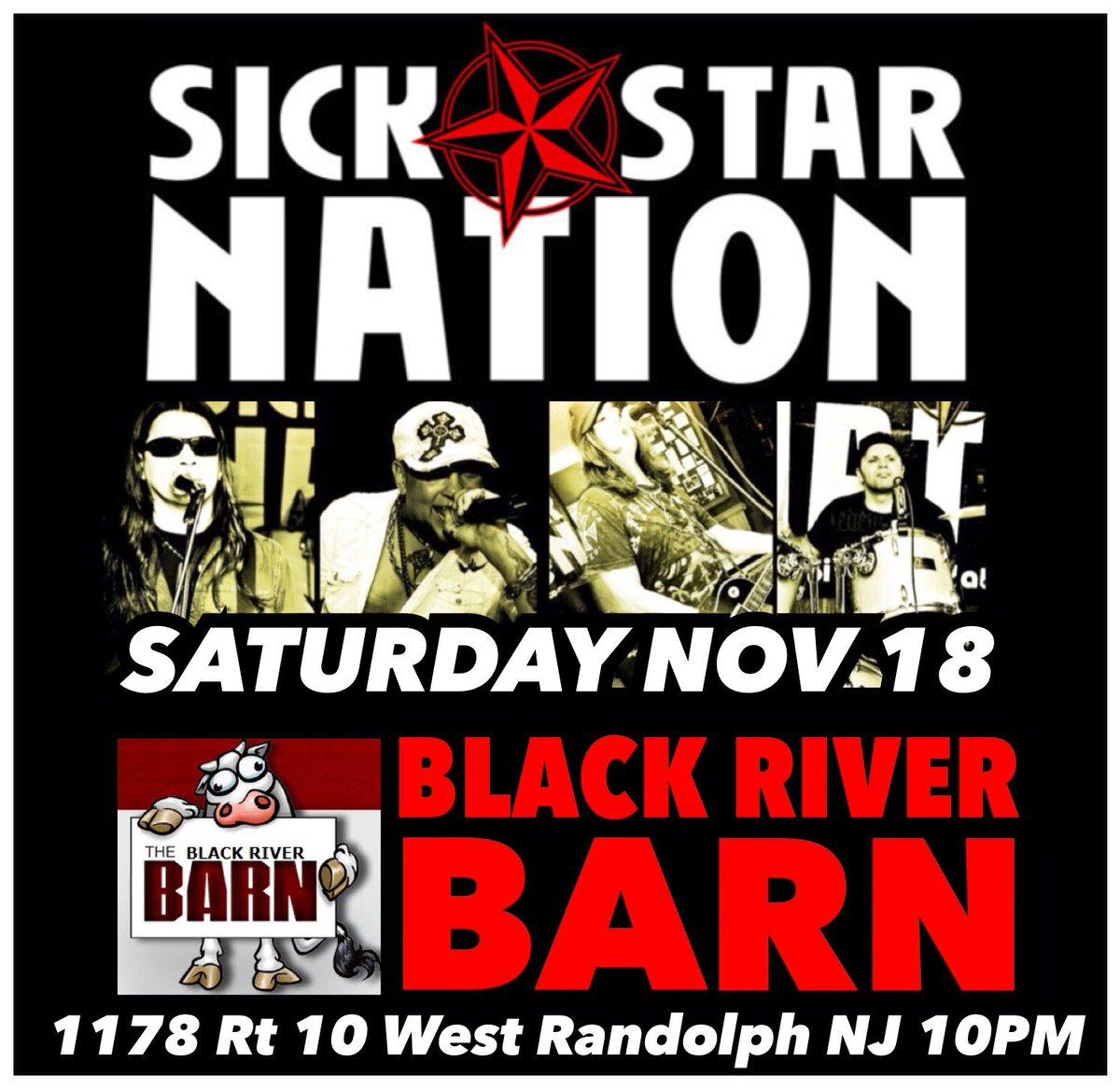 Sick Star Nation On Twitter Sat Nov 18 Black River Barn In