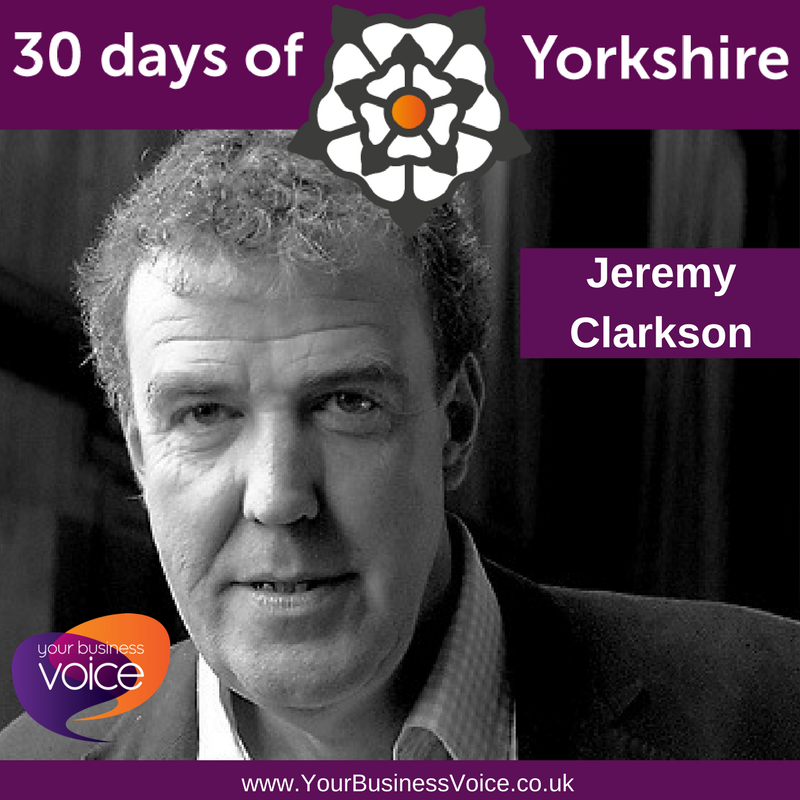YBV&#39;s 30 Days of Yorkshire - Jeremy Clarkson - Born in Doncaster, Yorkshire, he has become one of the world&#39;s most recognisable people! The roaring success of Top Gear and The Grand Tour have catapulted him to stardom. We love him! #30DaysOfYorkshire #YorkshireBiz @JeremyClarkson<br>http://pic.twitter.com/GjOumWubIk