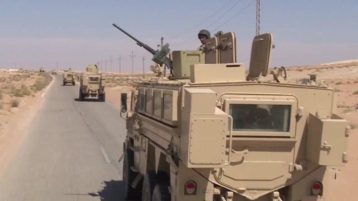 RG-33L &amp; Caiman cat mrap vehicles with 3rd field army in Central #Sinai <br>http://pic.twitter.com/ZKBdzaw8x0