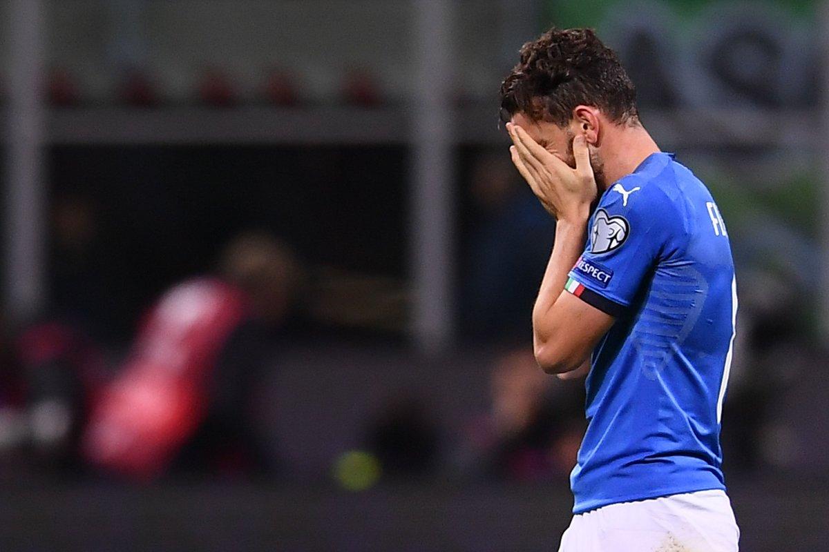 🔴 Niente da fare per gli azzurri: 🇮🇹 Italia-Svezia 🇸🇪 finisce 0-0. L'Italia non parteciperà ai mondiali 2018, per la prima volta dopo 60 anni gli azzurri non si qualificano. La cronaca: https://t.co/x6qDEVeudX