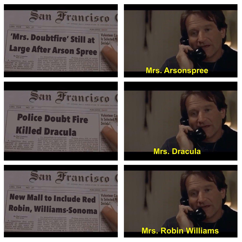 25+ Best Memes About Mrs. Doubtfire   Mrs. Doubtfire Memes  Mrs Meme