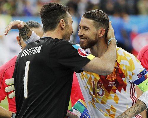 RT @SergioRamos: El Mundial te echará de menos, @gianluigibuffon. ¡Ánimo, amigo! Eres muy grande. https://t.co/pN2OaRY6TU