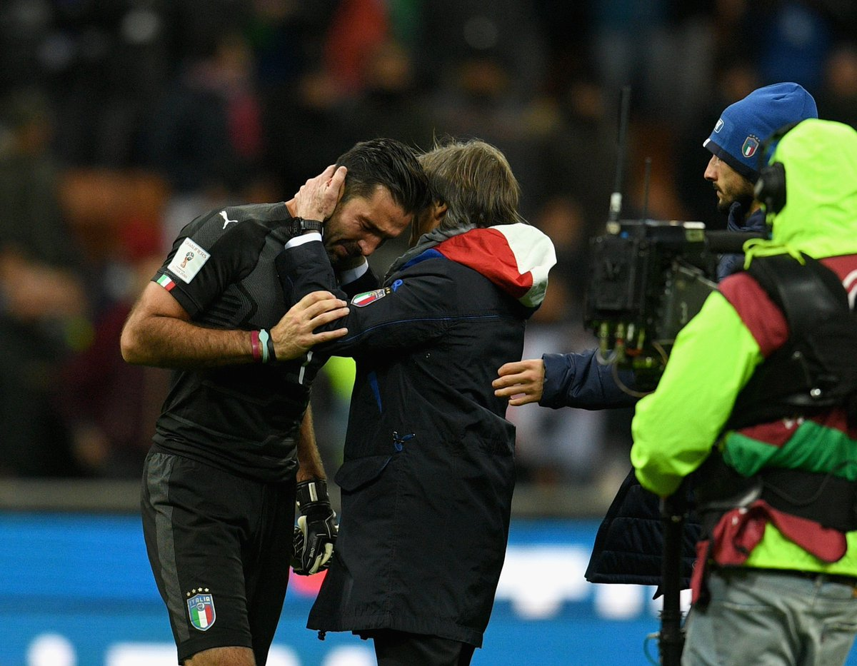 #Italy fails to qualify for the World Cup - A shocker as Italy always gets easily qualified since 1958