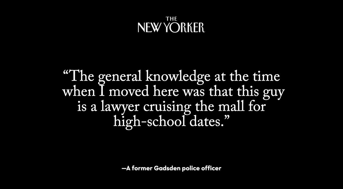 Roy Moore had been banned from a mall in Gadsden, Alabama, because he badgered teen girls, residents of the town, including lawyers and cops, say: https://t.co/2PiK8XzRT8