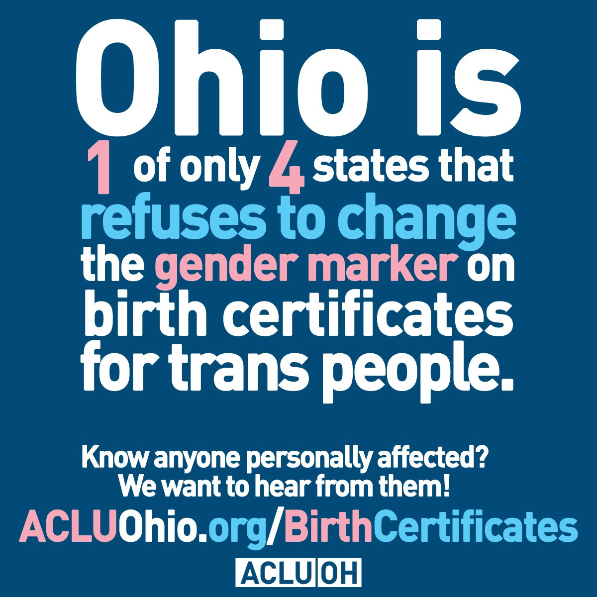 Aclu of ohio on twitter were trying to reverse ohios please share so we can find stories of transgenderohioans who have been directly harmed by this policy fill out our form today aiddatafo Image collections
