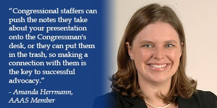 Amanda Herrmann shares why it&#39;s important to make a connection with congressional staff @AAASmember #Force4Science  http:// bit.ly/2iVwn2a  &nbsp;   <br>http://pic.twitter.com/M2u1oERnly