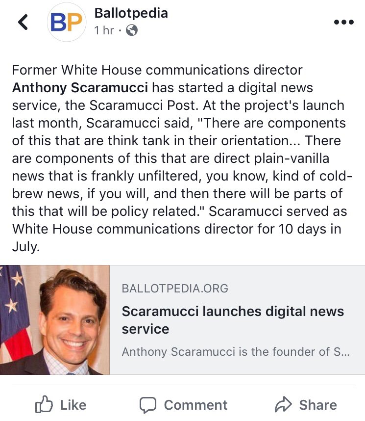 The #Scaramucci Post? Oh, how the mighty have fallen... #politicspic.twitter.com/XT8W5dTypW