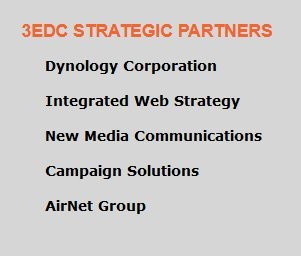 """6.   The archived 2007 web page for PAUL MANAFORT'S lobbying/PR group called """"3edc"""" states that 3edc was """"strategic partners"""" w/ New Media Communications (a MIKE CONNELL company) and Airnet (aka SMARTECH, a Jeff AVERBECK company)  …"""