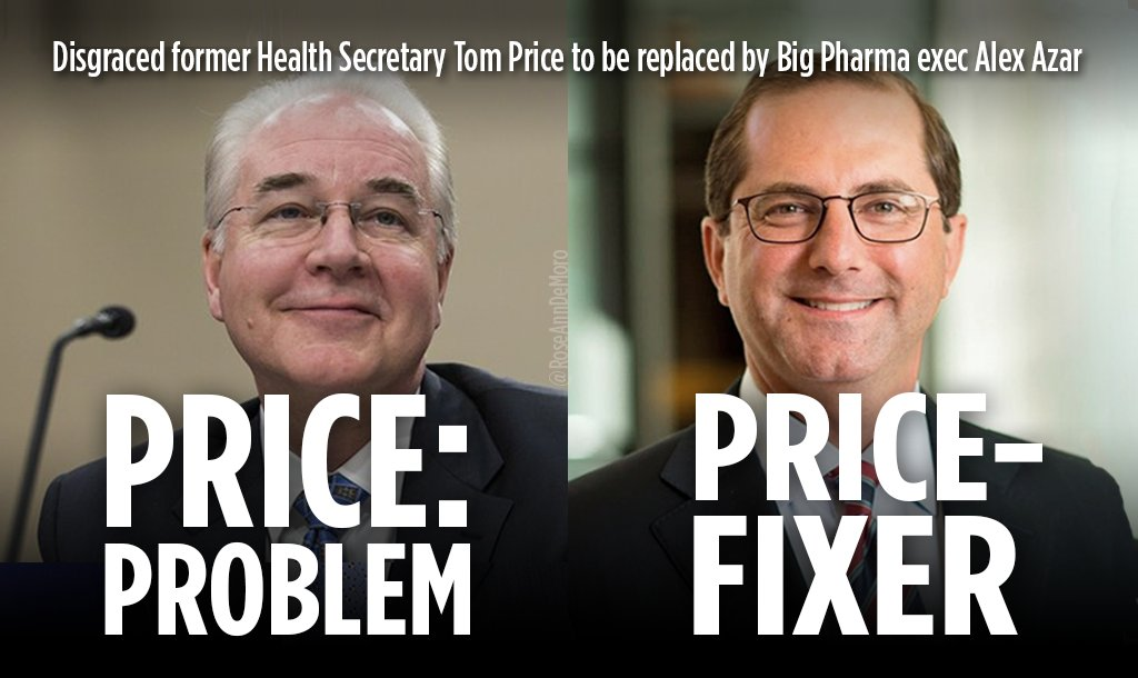 .@NationalNurses condemn nomination of #BigPharma Executive #AlexAzar for HHS Secretary: &quot;It's like employing a lion to herd your sheep&quot;   http:// goo.gl/V7uPt8  &nbsp;  <br>http://pic.twitter.com/yAukfDvIy2
