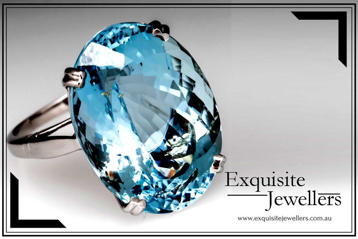 Stunning Aquamarine Gemstone Ring of Exquisite Jewellers Canberra. Place order on  http:// goo.gl/ZC2ZM7  &nbsp;   #customjewellery #customdesign #handmadejewellery #diamond #gemstone #canberra #australian #weddingring #aquamarine #like4like #follo4follo <br>http://pic.twitter.com/Y8Hz1BOXOu