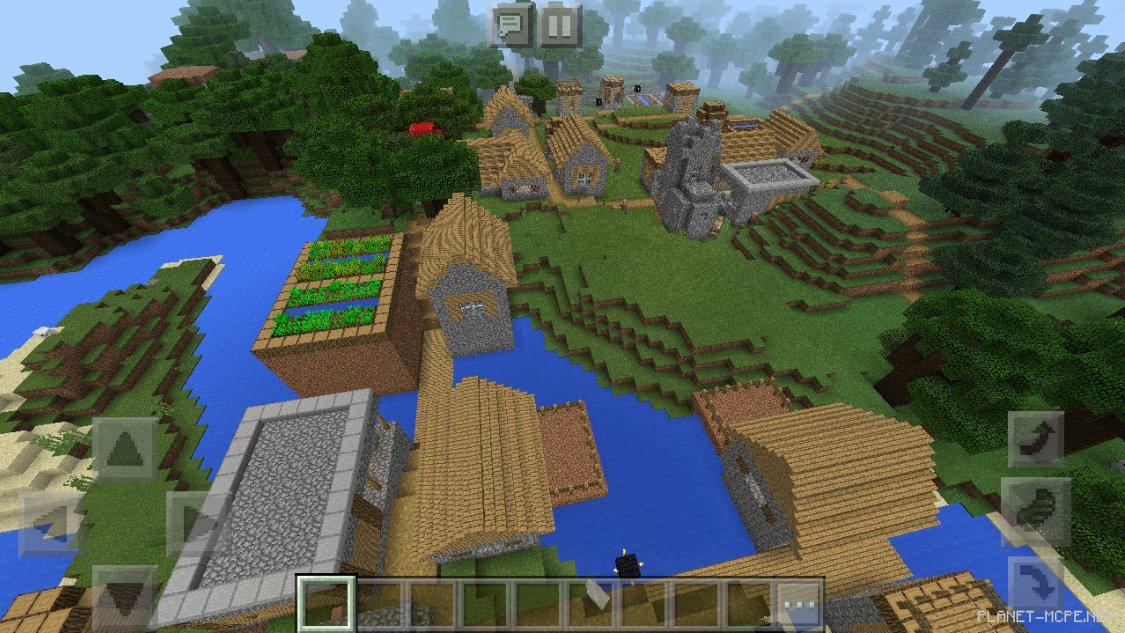 майнкрафт сиды на деревню #9