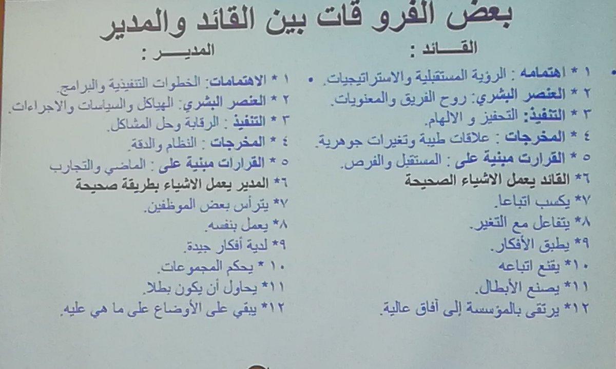 علي الصحن On Twitter الفرق بين المدير والقائد
