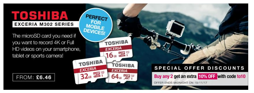 Save on @ToshibaUK Micro cards 16-64gb  http:// ow.ly/F1GJ30gxT2X  &nbsp;   #RT #Follow #Win Save Share #MultiBuy any 2 Extra 10% off <br>http://pic.twitter.com/4HTyuv3Z57