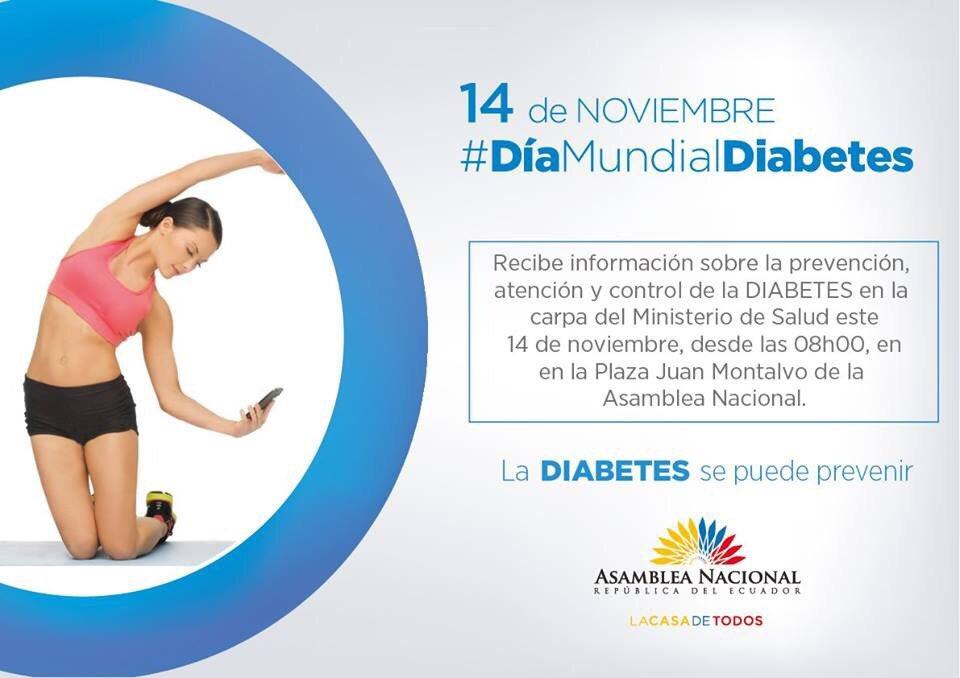 RT @MarianoEsManabi: #DíaMundialDiabetes, cuidemos nuestro cuerpo con una alimentación sana y ejercicio https://t.co/rd8QEHa4xW