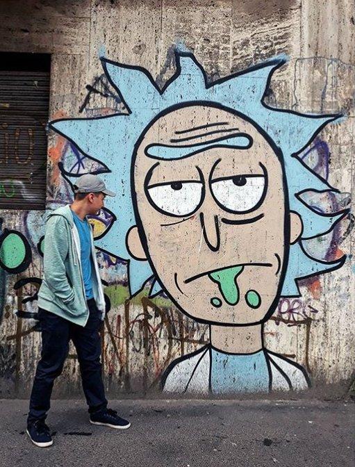 Las calles son de Rick.  #urban #streetart https://t.co/3lAAJIcMcn