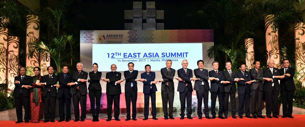 Prime Minister @narendramodi and other world leaders at the 12th East Asia Summit in Manila. https://t.co/r6Krh4RHsa