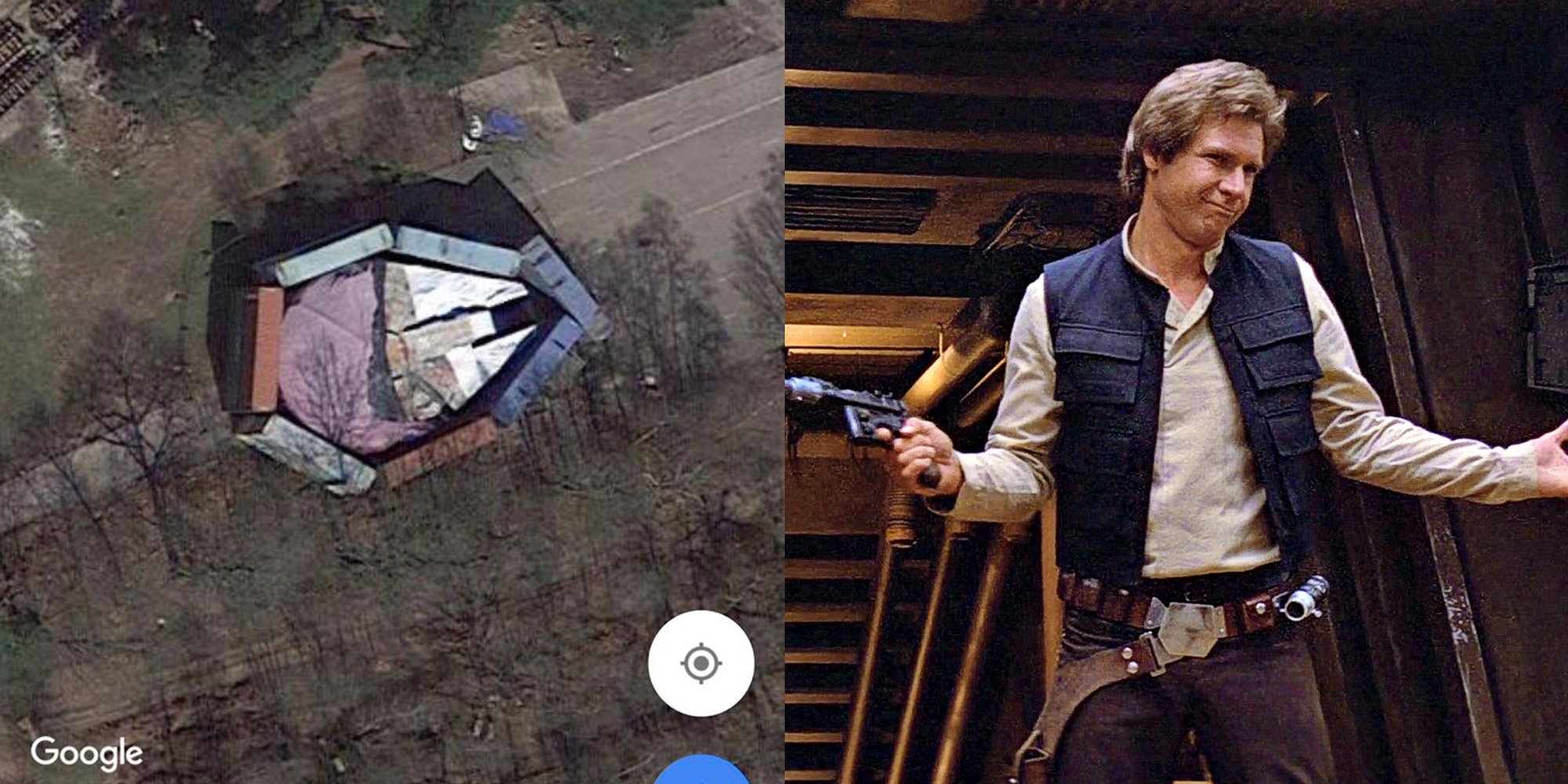 Disney tried to hide the Millennium Falcon but forgot it was on Google Maps https://t.co/XzlheCgVoP https://t.co/tGYt8KUvF8