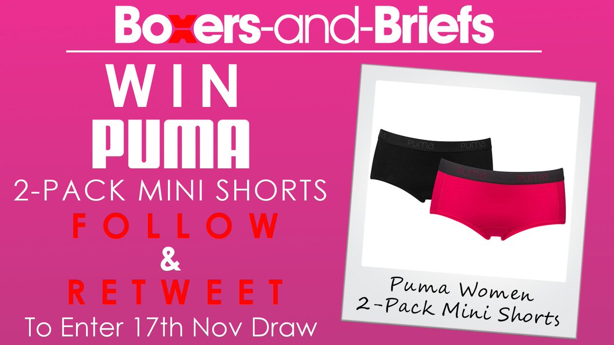 #WIN @PUMA   2-Pack Mini Shorts!!! (Size XS) #FOLLOW &amp; #RETWEET To Enter 17th Nov Draw! #TuesdayMotivation #comp #rt #giveaway #competition<br>http://pic.twitter.com/bo35Idp8Xz
