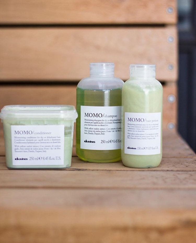 MOMO: mo•mo essential hair-care family Ideal for dry or dehydrated hair #Davines #Sustainablebeauty https://t.co/9ne6k2NlKt