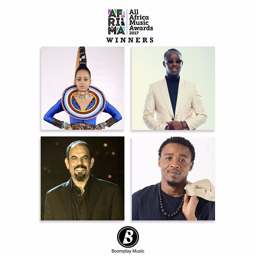 Congratulations to all E.A #AFRIMA2017 Winners  @GiladMillo won 2 awards @EddyKenzo won Song of the Year in Africa  @OfficialNandy won Best East African Act (Female)  @OfficialAlikiba won Best Artist or Group in African R&amp;B and Soul Get their music Now on #BoomplayMusic  <br>http://pic.twitter.com/xnCaOmumcW