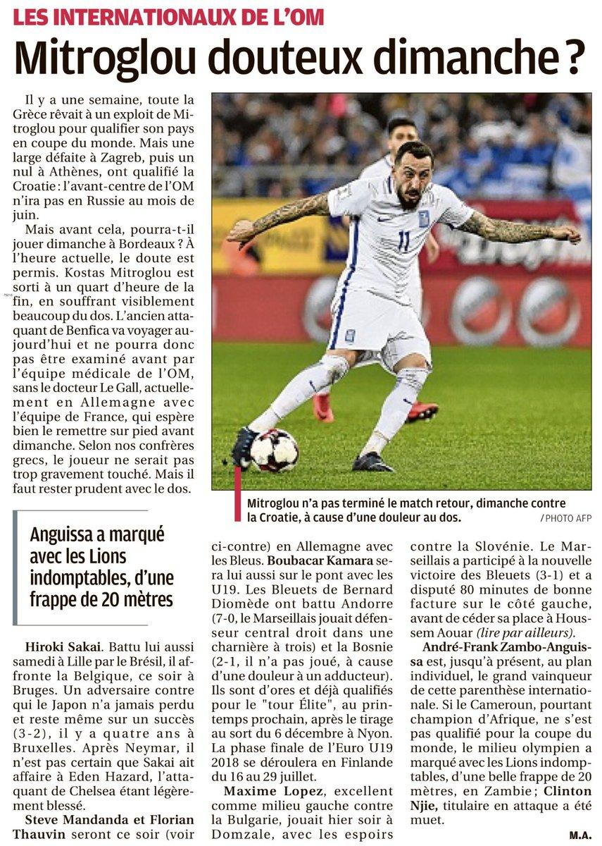 Extraits  Internationaux de l'OM, Bielsa: les signes positifs, l'Algérie et le Renard [LaProv,FF,20mn] #TeamOM #OM #Bielsa #Mitroglou #Mandanda #Algérie #Renard #LOSCpic.twitter.com/uYOJvnaRvh