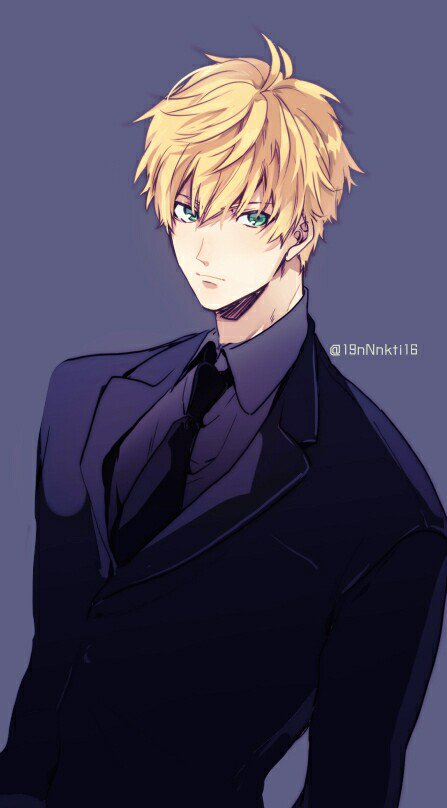 黒スーツなアーサー