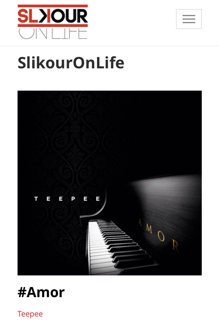 [CLIENT PRESS] RnB crooner @teepeetime is featured on @slikouron ... you can also stream and download #Amor via the site|  https://www. slikouronlife.co.za/blog/10726/tee peetime-amor &nbsp; … <br>http://pic.twitter.com/Pod8K5GBPG
