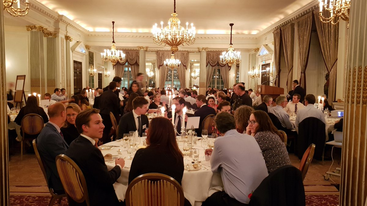 A delightful view of last Thursday&#39;s diners at our Annual Dinner, held at the @RAClubtweets as well as a special bonus photo for car lovers #Porsche919 <br>http://pic.twitter.com/m875zrxcMU