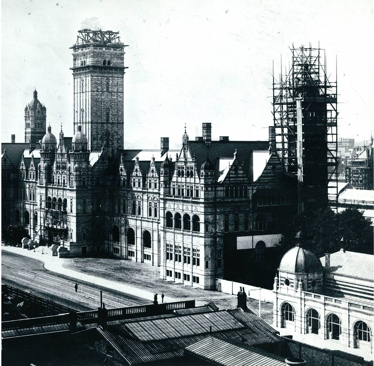 Imperial college on twitter the queens tower was originally one the queens tower was originally one of three towers all part of the imperial institute heres a photo from our archives of the tower under construction altavistaventures Images