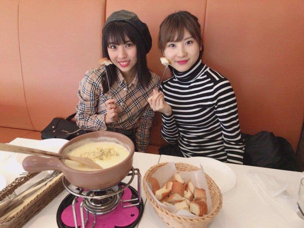 チーズフォンデュ美味しかったなぁ🧀 やまりなとカフェ部活動でした(^^)
