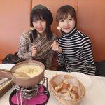 チーズフォンデュ美味しかったなぁ🧀やまりなとカフェ部活動でした(^^) pic.twitter.co…