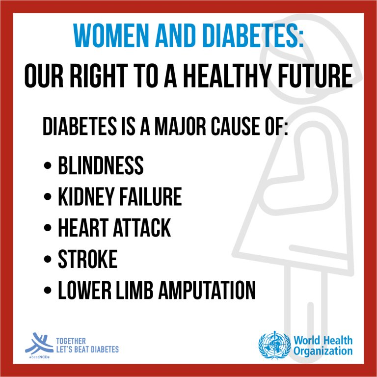 It&#39;s #WorldDiabetesDay.  #Diabetes is a major cause of: Blindness Kidney failure Hearth attack Stroke Lower limb amputation  Together let&#39;s beat diabetes. #BeatNCDs <br>http://pic.twitter.com/twmAHAYpXT