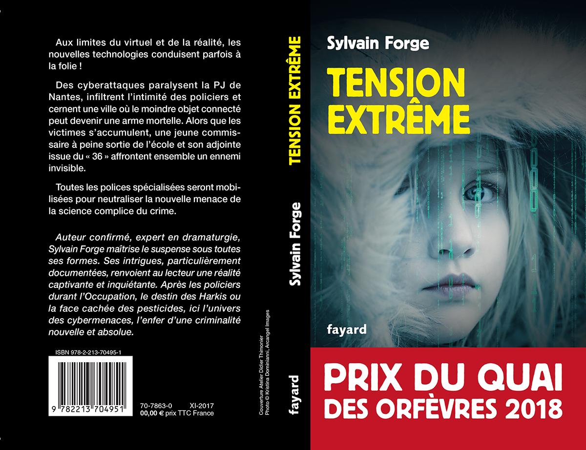 [#PQO2018] Sylvain Forge est le lauréat du #prix du Quai des Orfèvres pour son roman Tension extrême !🕵️♀️🕵️