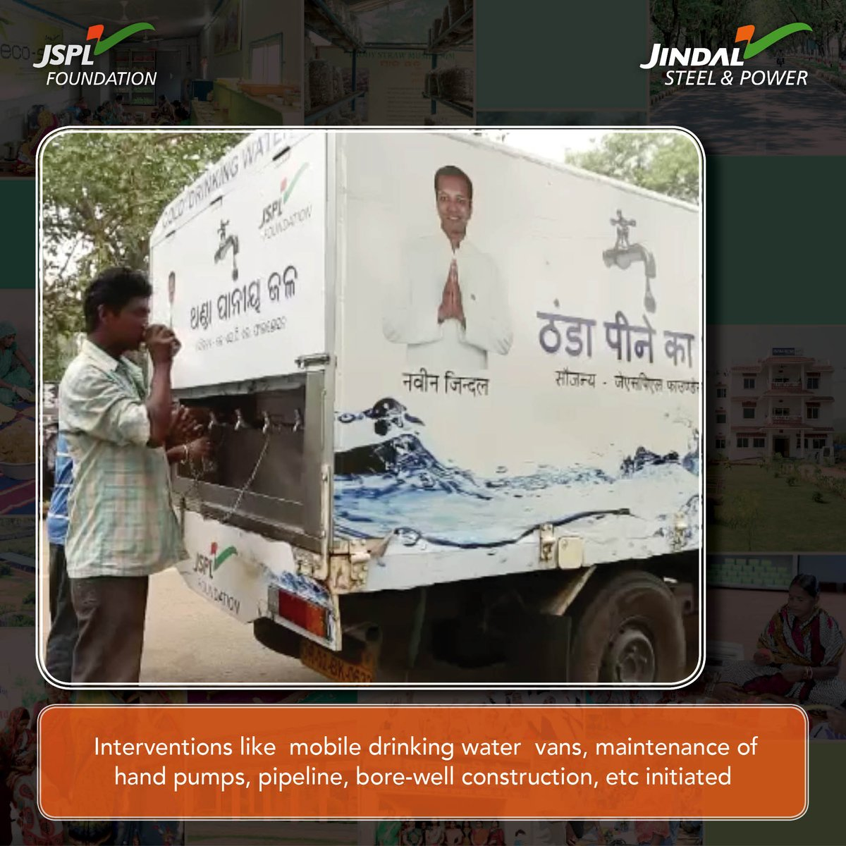 Over 11,00,000 people have been provided with accessible drinking #water through @JSPLFoundation&#39;s initiatives  #SafeWater<br>http://pic.twitter.com/T9OizHuqKu