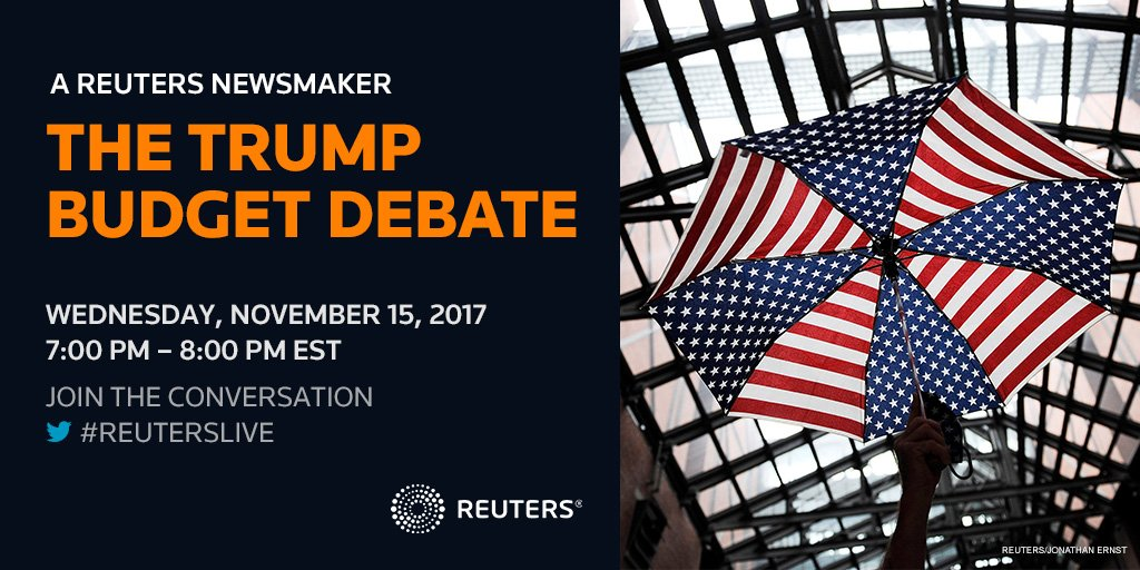 What could Trump's budget mean for the U.S. economy at large? Join #ReutersLive Wednesday at 7pm ET with @mcuban, @dambisamoyo and Alan S. Blinder<br>http://pic.twitter.com/53GK8V18BO