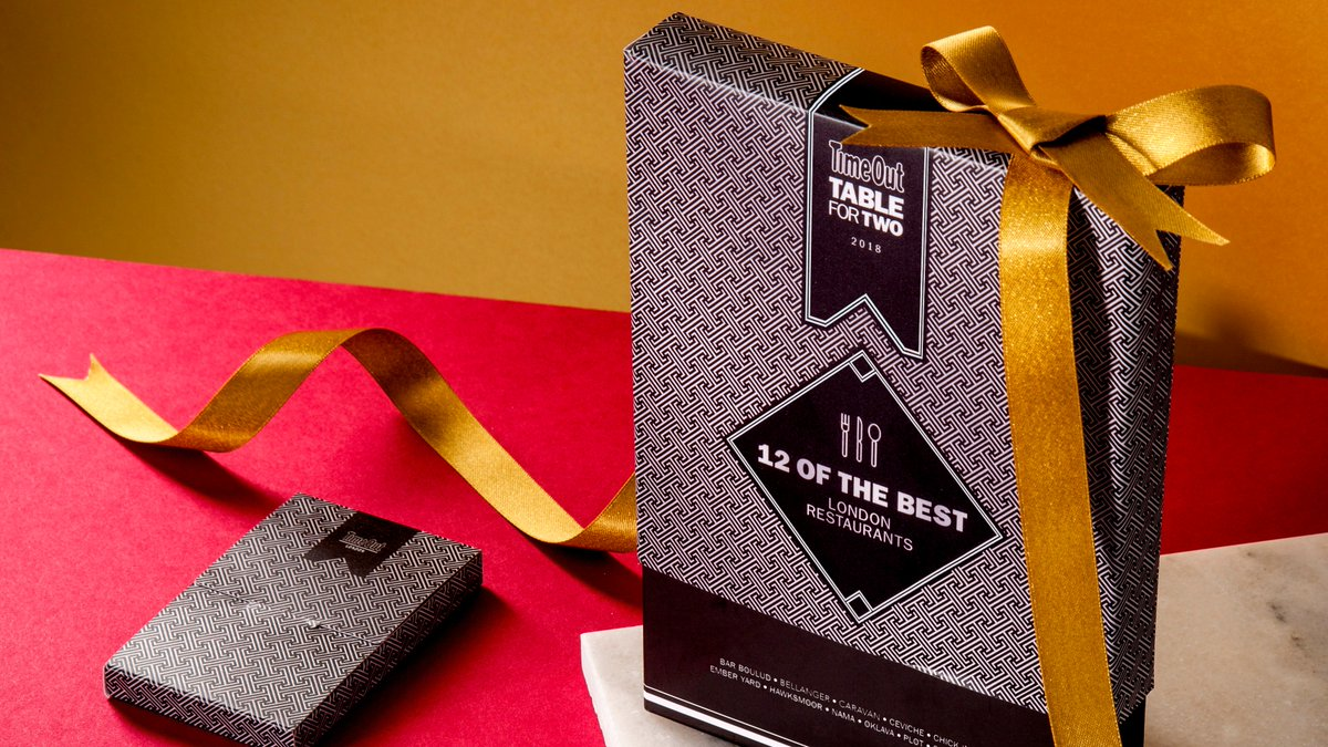 timeoutlondon today launches table for two the luxury gift box that gives you 50 off at 12 of londons best restaurants httpbitly2ahmwfk