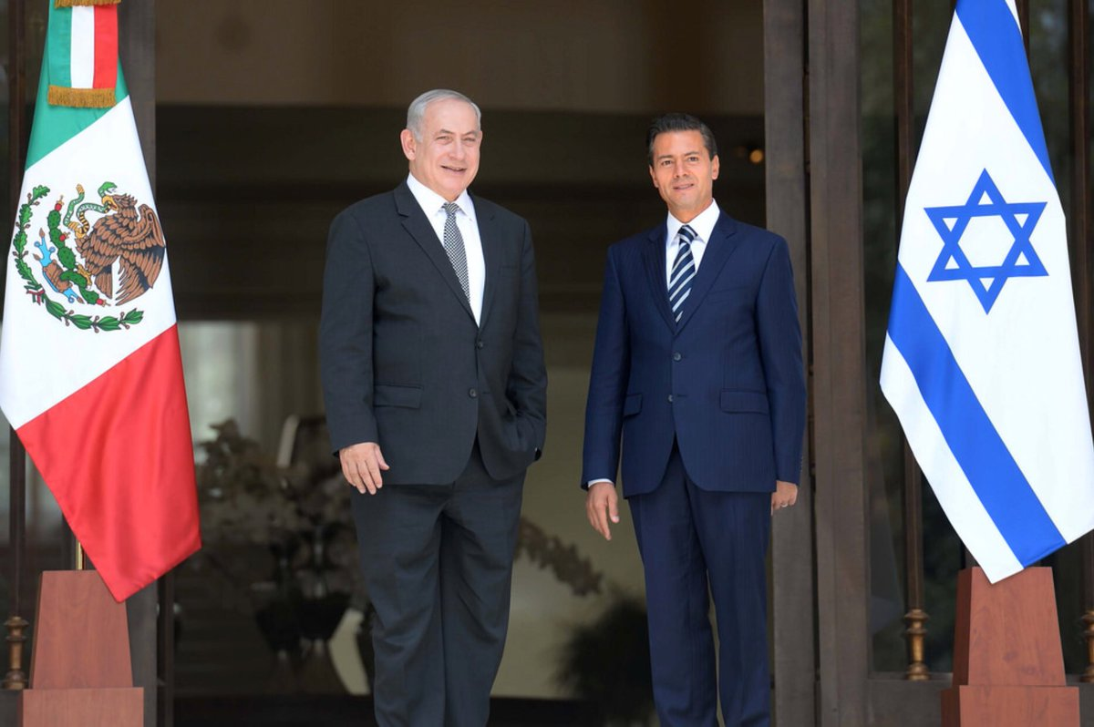 Thank you President of Mexico @EPN and Secretary of Foreign Affairs Videgaray for refusing to go along with one sided anti-Israel resolutions at the UN. Deeply value your friendship 🇮🇱🇲🇽