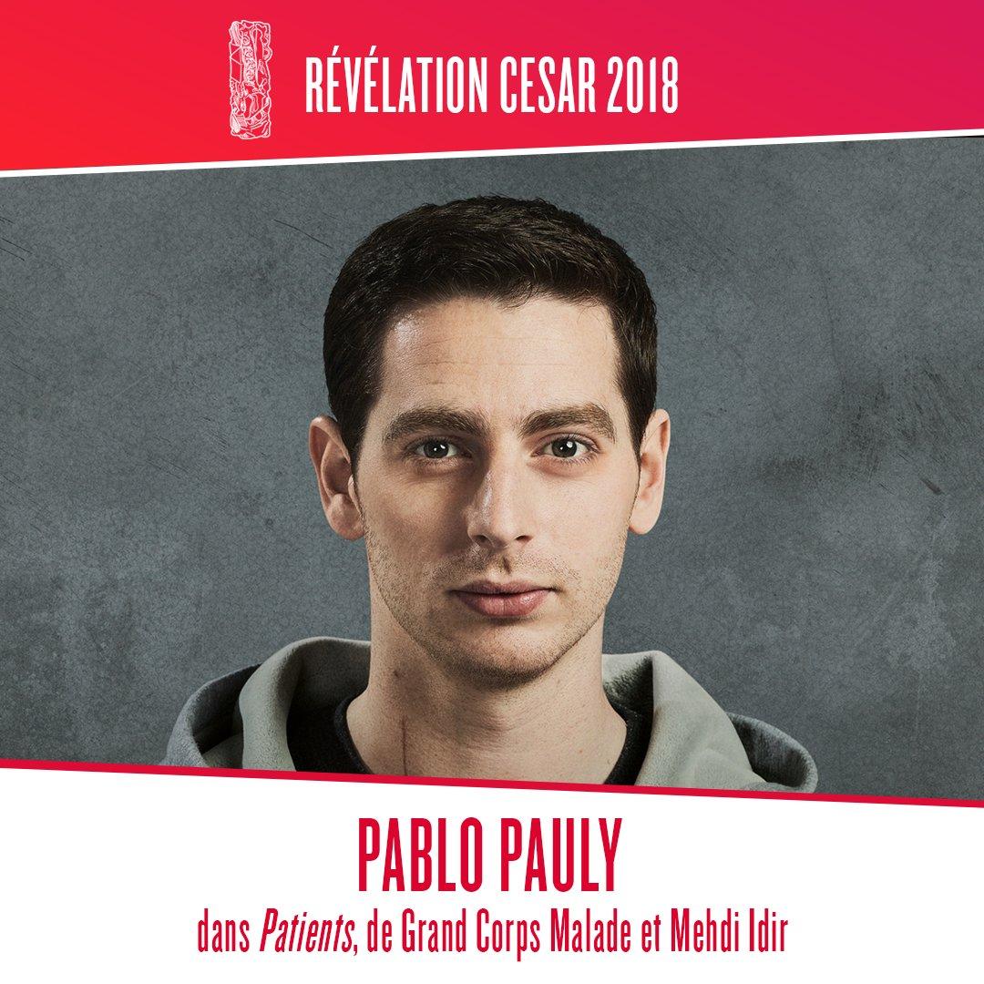 Félicitations à @PabloPauly présélectionné aux #César2018 dans la catégorie Meilleur Espoir Masculin pour #PatientsLeFilmpic.twitter.com/VONhE5gNVO