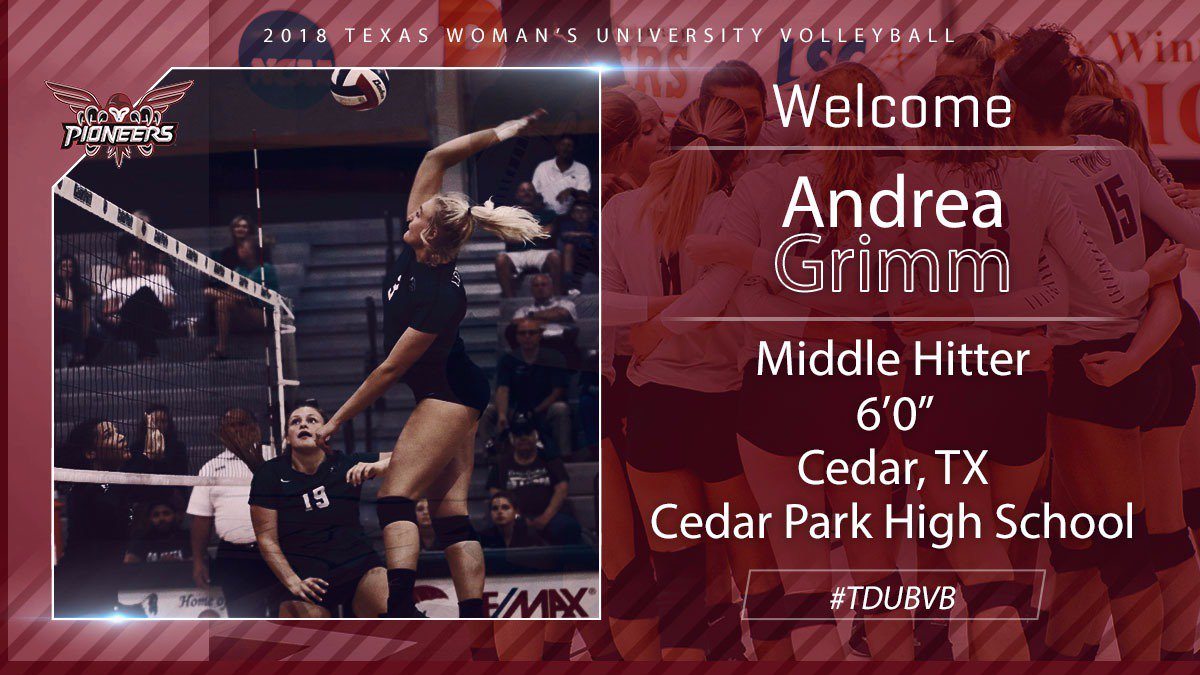 Signed Sealed Delivered! @andrea_grimm15 is a #piONEer!!  2014 Athlete of the Year, TX State Semi-Finals MVP, 1st Team All District, National Honors Society <br>http://pic.twitter.com/5IUWA24msp