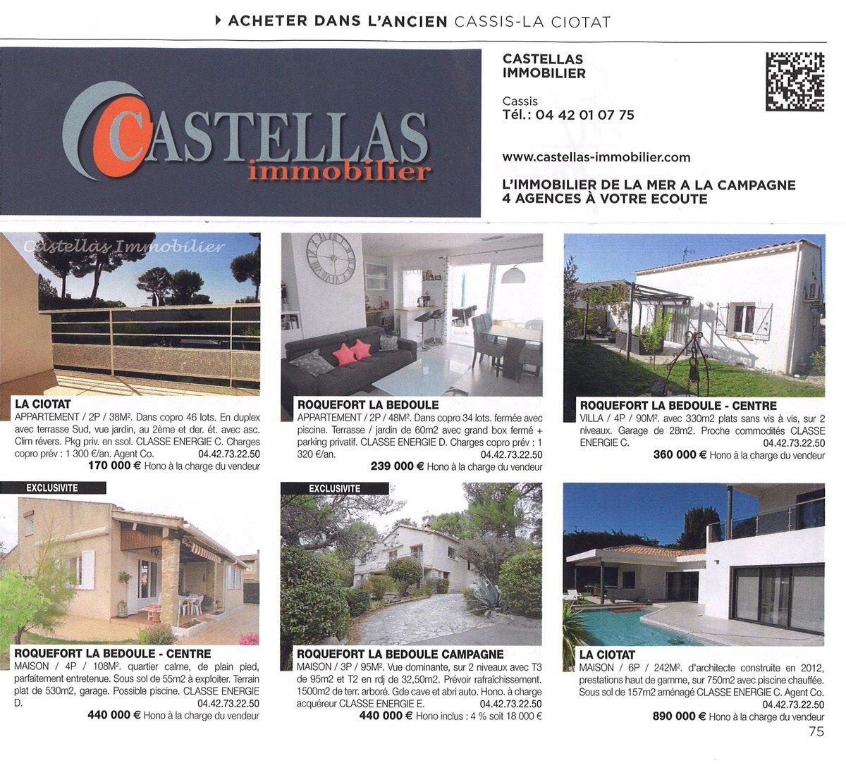 Immobilier Laciotat Notre Slection Castellas Sur Le Nouveau Magazine Logic  Immo Du Novembre With Classe Energie Maison