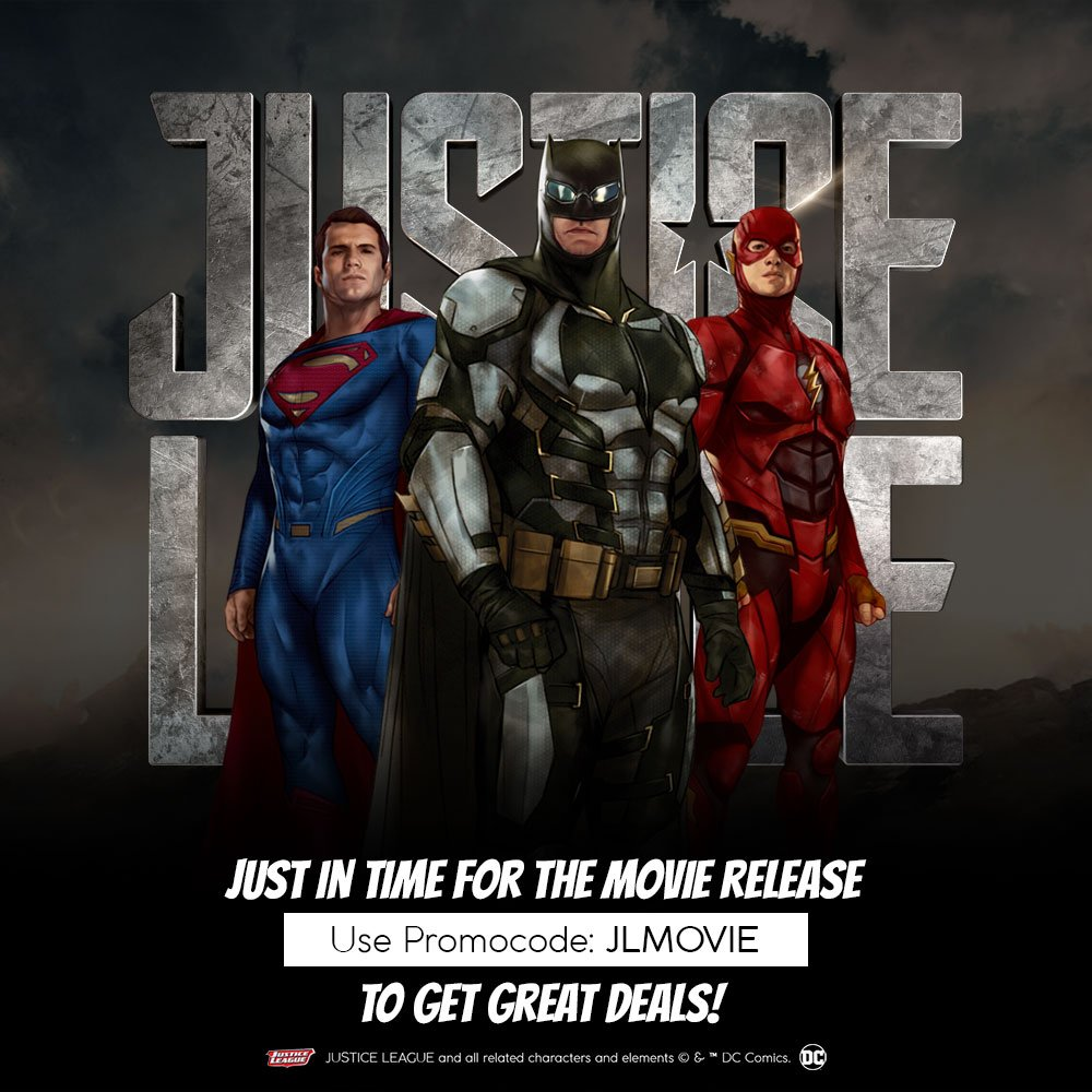 As we build up to the exciting release of the Justice League Movie, we have an offer you can&#39;t resist! Use promo code - JLMOVIE to avail great deals on super socks on  http://www. balenzia.com  &nbsp;    **Offer expires in 2 days! #Balenzia #Socks #JusticeLeague  #JusticeLeaguepremiere<br>http://pic.twitter.com/QqcqZWi96t