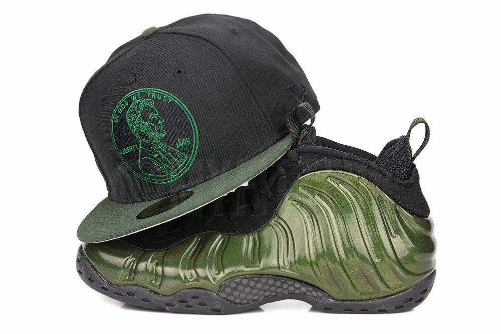 a3c7ce33b89 Penny 1¢ One Cent New Era 59Fifty Fitted Now Available for the Air Foamposite  Pro Legion Green (Hat Originally Made For Air Foamposite Pine Green) !
