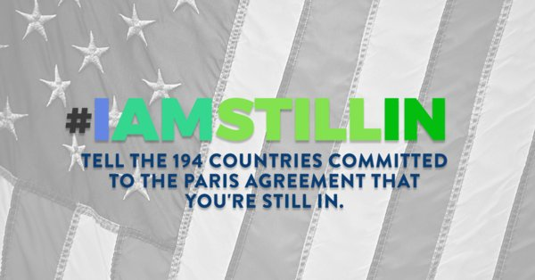 Everyday Americans have committed to #ClimateAction. We are #StillIn! #COP23  http:// thndr.me/u8BrNH  &nbsp;   #UniteBlue<br>http://pic.twitter.com/rwxmuTkWWk