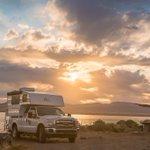 Sunrise at Pyramid Lake, Nevada! #capricamperadventures #roadtrip #Nevada