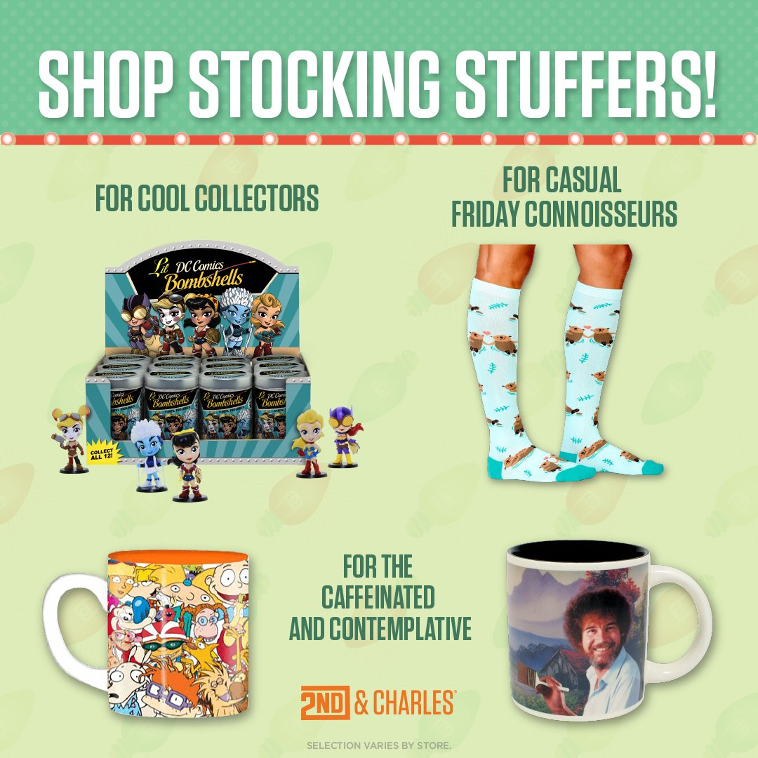 #Stock up on fun this season and find something for everyone at #2ndAndCharles! #Mugs! #Socks! #BlindPacks!<br>http://pic.twitter.com/5neJ5YU8XM