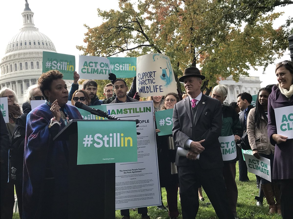 Thank you @RepBarbaraLee for speaking on how we must keep up the fight for environmental justice! #StillIn <br>http://pic.twitter.com/Emj84TLXQS