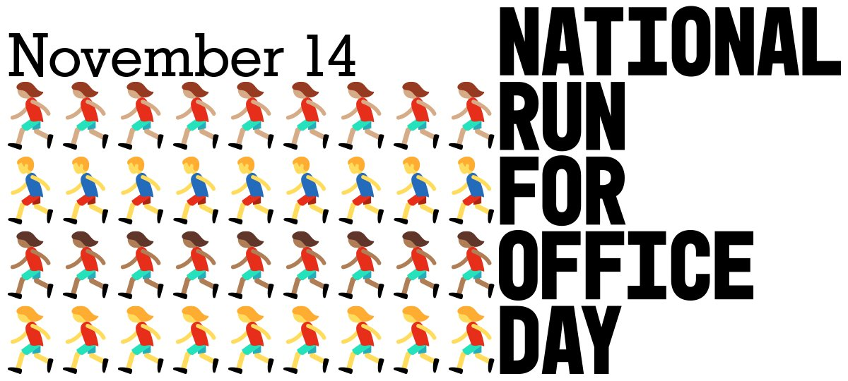 National Run for Office Day is the first holiday to celebrate the fact that ANYONE can #runforsomething. <br>http://pic.twitter.com/JoeAyKFDRo