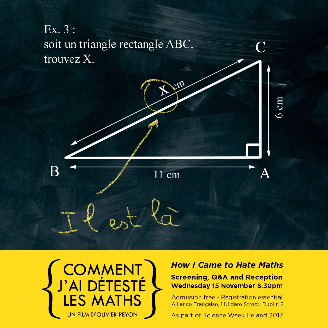 "Places left for ""Comment j'ai détesté les Maths"" #Free #Screening, #Talk & #Reception tomorrow at 6.30pm! Are you a #Maths #lover? #hater? Come & discover why! Booking:  http:// ow.ly/j7cR30gpfTV     pic.twitter.com/19rcfJ5pUo"