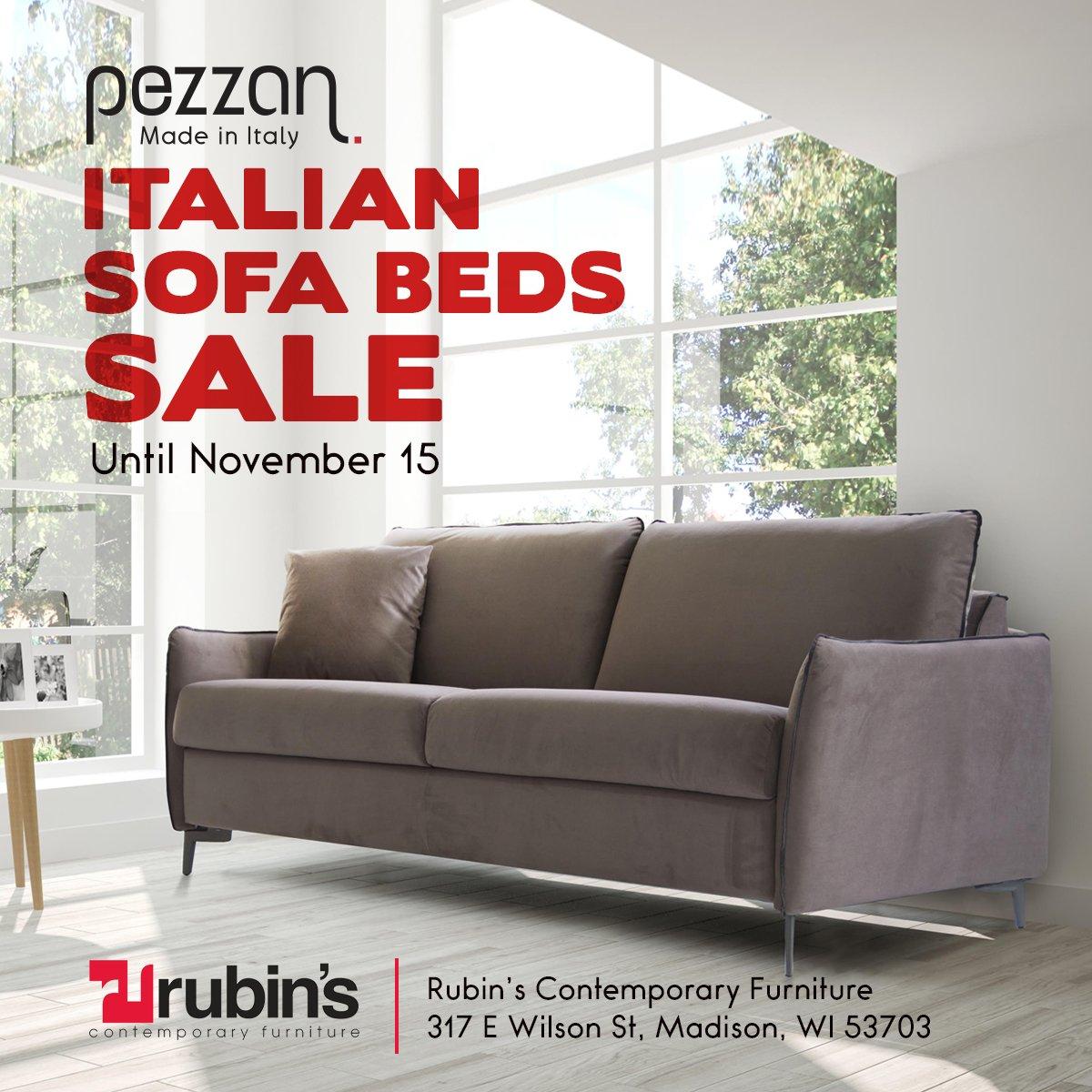 #Pezzan Sale At Rubinu0027s Furniture In Madison WI Ending Tomorrow....  #sofabed #pezzanusapic.twitter.com/jdsp5cIV2a