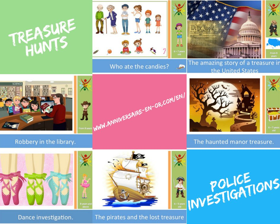 Print a treasure hunt and test our innovative fun concept for an entertaining activity to organize at a kid&#39;s birthday party.  http://www. anniversaire-en-or.com/en/  &nbsp;   #treasurehunt #investigation #game #kids #party #birthday #detective #mystery #action #game #USA #library #pirate #dance<br>http://pic.twitter.com/D6X84QKcK8